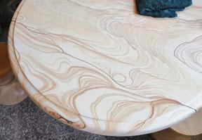 台面板圆桌砂岩